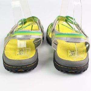Jambu Shoes - Jambu Runner yellow green sport sandals toe loop